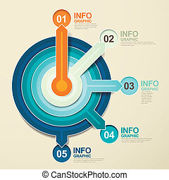 paper pointer infographic elements - modern vector abstract...