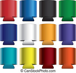 Koozies-Collapsible - Illustration of blank collapsible...