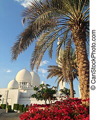 Sheikh Zayed Mosque in Abu Dhabi - Exterior of Sheikh Zayed...