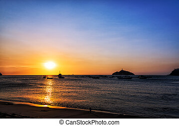 Santa Marta Sunset - Sunset off the coast of Santa Marta,...