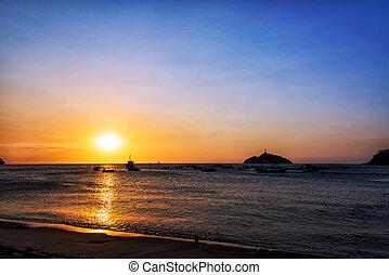Santa Marta Sunset - Sunset off the coast of Santa Marta,...