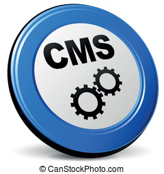 Vector cms 3d icon - Vector illustration of cms blue 3d icon...