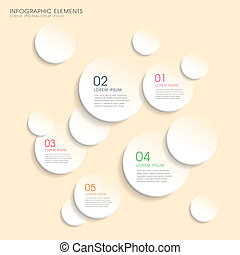 circle paper infographics design