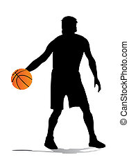 basketball player vector silhouette