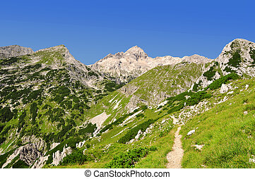 Julian Alps - Mount Triglav in the Julian Alps - Slovenia,...