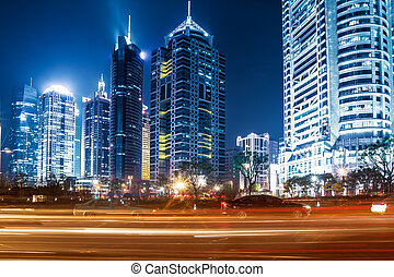 shanghai - Shanghai Lujiazui Finance and Trade Zone of the...