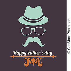 Fathers day design over gray background, vector...