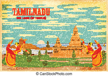 Culture of Tamilnadu - illustration depicting the culture of...