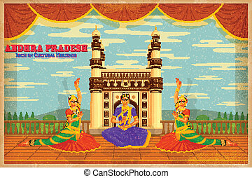 Culture of Andhra Pradesh - illustration depicting the...