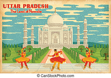 Culture of Uttar Pradesh - illustration depicting the...