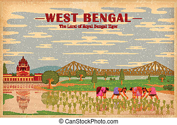 Culture of West Bengal - illustration depicting the culture...