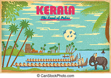 Culture of Kerala - illustration depicting the culture of...