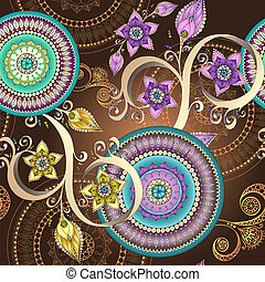 Vector floral seamless pattern background. - Vector floral...