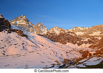 Glowing Alps - Stunning sunrise on the majestic Monviso M...