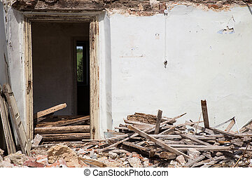 Demolished House - Door into a demolished house