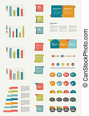 Set of flat infographic elements