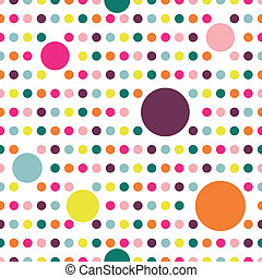Dot flat repeat wall paper - Colorful flat repeat wall paper...