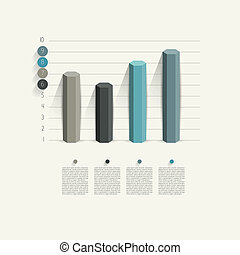 Business graph - Example of business hexagonal column design...