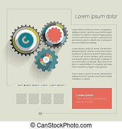 Cog wheel circle flat diagram. - Cog wheel circle flat...