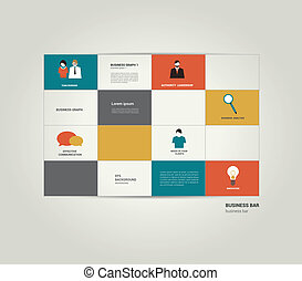 Infographic flat bar. Simply editable sheet diagram. Vector...
