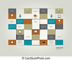 Infographic flat bar Simply editable sheet diagram Vector...