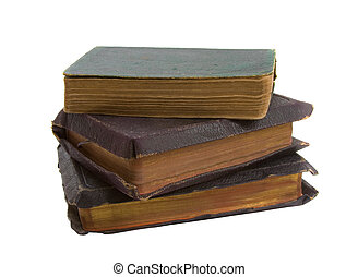 Stack of Old Books over white