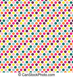 Color dot pattern. - Color dot seamless repeat pattern on...