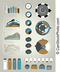 Infographics elements. - Collection of exclusive business...