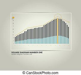 Business flat graph.
