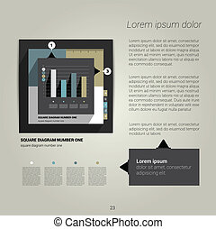 Modern flat page layout. - Modern flat page layout with text...