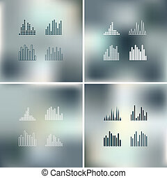 Sound wave shapes. - Sound wave shapes on blur background.