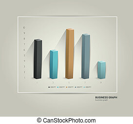 Infographics chart - Example of business flat design graph...