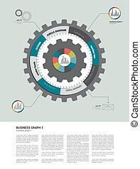 Circle flat infographic diagram - Exclusive circle flat...