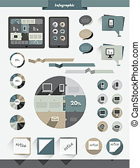 Info graphics flat collection.