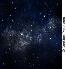 starry night sky - beautiful background, nightly sky with...