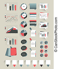 Collection of infographics elements.