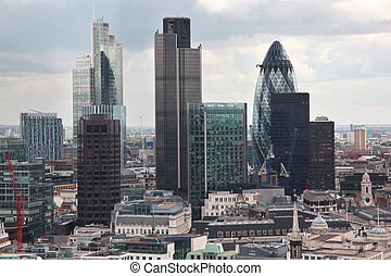 Londons financial district - Famous skyscrapers of Londons...