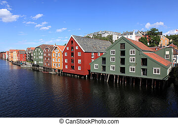 Old Storehouses in Trondheim
