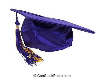 Graduation mortar board with tassel used during ceremonies -...