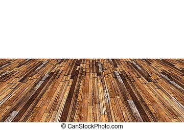 abstract mahogany floor on white