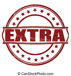 Extra - Stamp with word extra inside, vector illustration