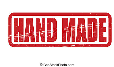 Hand made - Stamp with text hand made inside, vector...
