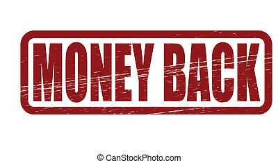 Money back - Stamp with text money back inside, vector...