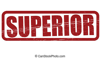 Superior - Stamp with word superior inside, vector...