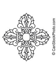 Sacred buddhist religious symbol - vajra or dorje,Sanskrit...