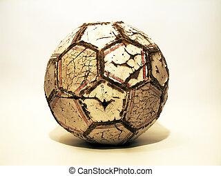 soccer ball - old soccer ball