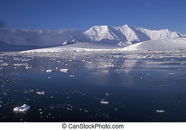 Antarctica - Panoramic view on Antarctica mountains