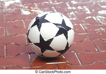 football soccer ball new goal isolated sport