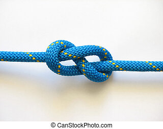 Knot blue rope - Blue rope with yellow knot