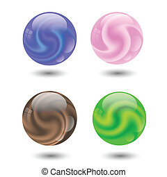 set of colorful ball